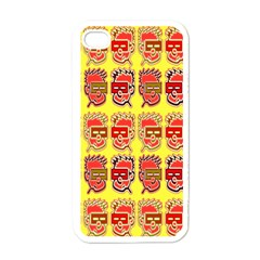 Funny Faces Apple Iphone 4 Case (white) by Amaryn4rt