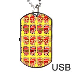 Funny Faces Dog Tag Usb Flash (one Side) by Amaryn4rt