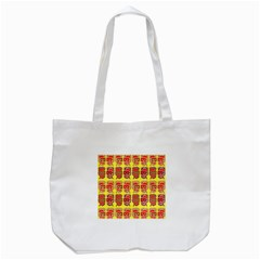 Funny Faces Tote Bag (white) by Amaryn4rt