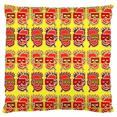 Funny Faces Large Flano Cushion Case (two Sides) by Amaryn4rt