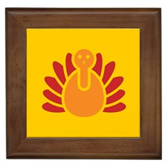 Animals Bird Pet Turkey Red Orange Yellow Framed Tiles by Alisyart
