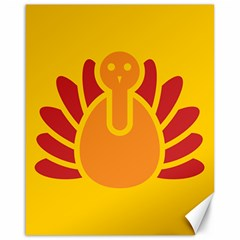 Animals Bird Pet Turkey Red Orange Yellow Canvas 16  X 20   by Alisyart