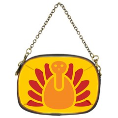 Animals Bird Pet Turkey Red Orange Yellow Chain Purses (two Sides)  by Alisyart