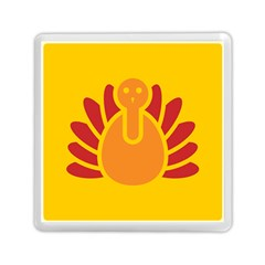 Animals Bird Pet Turkey Red Orange Yellow Memory Card Reader (square)  by Alisyart