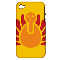 Animals Bird Pet Turkey Red Orange Yellow Apple Iphone 4/4s Hardshell Case (pc+silicone) by Alisyart