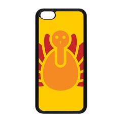 Animals Bird Pet Turkey Red Orange Yellow Apple Iphone 5c Seamless Case (black) by Alisyart