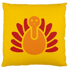 Animals Bird Pet Turkey Red Orange Yellow Standard Flano Cushion Case (two Sides) by Alisyart