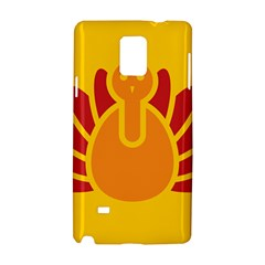 Animals Bird Pet Turkey Red Orange Yellow Samsung Galaxy Note 4 Hardshell Case by Alisyart