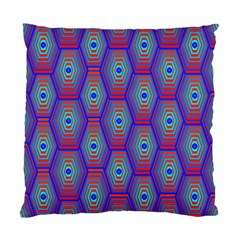 Red Blue Bee Hive Pattern Standard Cushion Case (one Side) by Amaryn4rt