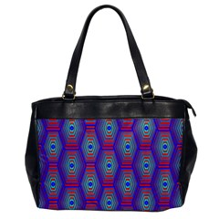 Red Blue Bee Hive Pattern Office Handbags by Amaryn4rt