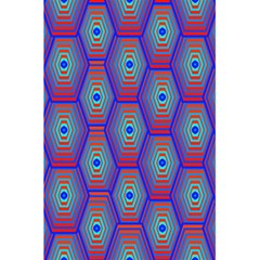 Red Blue Bee Hive Pattern 5 5  X 8 5  Notebooks by Amaryn4rt
