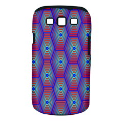 Red Blue Bee Hive Pattern Samsung Galaxy S Iii Classic Hardshell Case (pc+silicone) by Amaryn4rt