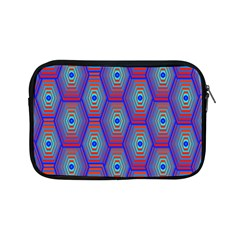 Red Blue Bee Hive Pattern Apple Ipad Mini Zipper Cases by Amaryn4rt