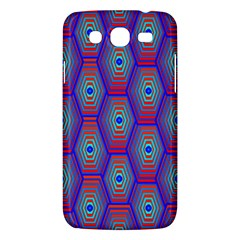 Red Blue Bee Hive Pattern Samsung Galaxy Mega 5 8 I9152 Hardshell Case  by Amaryn4rt