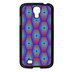 Red Blue Bee Hive Pattern Samsung Galaxy S4 I9500/ I9505 Case (black) by Amaryn4rt