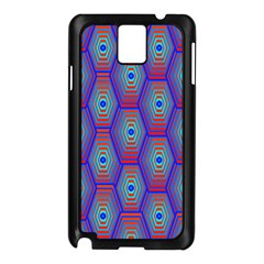 Red Blue Bee Hive Pattern Samsung Galaxy Note 3 N9005 Case (black) by Amaryn4rt
