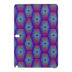 Red Blue Bee Hive Pattern Samsung Galaxy Tab Pro 10 1 Hardshell Case by Amaryn4rt