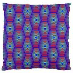 Red Blue Bee Hive Pattern Standard Flano Cushion Case (one Side)