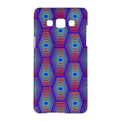 Red Blue Bee Hive Pattern Samsung Galaxy A5 Hardshell Case  by Amaryn4rt