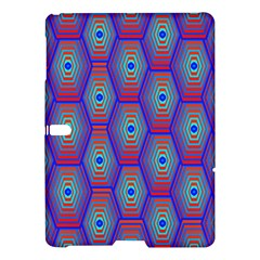 Red Blue Bee Hive Pattern Samsung Galaxy Tab S (10 5 ) Hardshell Case  by Amaryn4rt