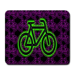 Bike Graphic Neon Colors Pink Purple Green Bicycle Light Large Mousepads by Alisyart