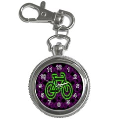Bike Graphic Neon Colors Pink Purple Green Bicycle Light Key Chain Watches by Alisyart
