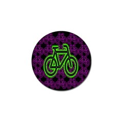Bike Graphic Neon Colors Pink Purple Green Bicycle Light Golf Ball Marker (4 Pack) by Alisyart