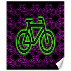 Bike Graphic Neon Colors Pink Purple Green Bicycle Light Canvas 20  X 24   by Alisyart