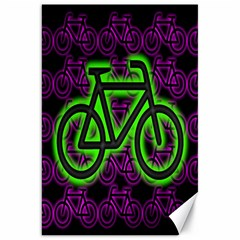 Bike Graphic Neon Colors Pink Purple Green Bicycle Light Canvas 20  X 30   by Alisyart