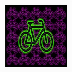 Bike Graphic Neon Colors Pink Purple Green Bicycle Light Medium Glasses Cloth (2 Side) by Alisyart