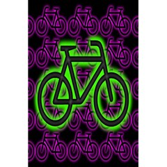 Bike Graphic Neon Colors Pink Purple Green Bicycle Light 5 5  X 8 5  Notebooks by Alisyart