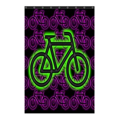 Bike Graphic Neon Colors Pink Purple Green Bicycle Light Shower Curtain 48  X 72  (small)  by Alisyart
