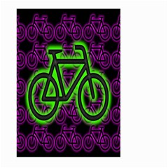 Bike Graphic Neon Colors Pink Purple Green Bicycle Light Large Garden Flag (two Sides) by Alisyart