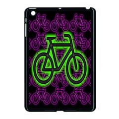 Bike Graphic Neon Colors Pink Purple Green Bicycle Light Apple Ipad Mini Case (black) by Alisyart