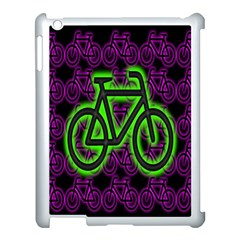 Bike Graphic Neon Colors Pink Purple Green Bicycle Light Apple Ipad 3/4 Case (white) by Alisyart