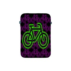 Bike Graphic Neon Colors Pink Purple Green Bicycle Light Apple Ipad Mini Protective Soft Cases by Alisyart
