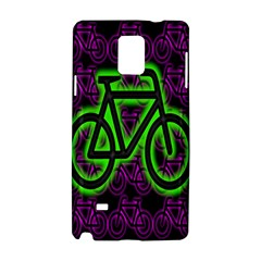 Bike Graphic Neon Colors Pink Purple Green Bicycle Light Samsung Galaxy Note 4 Hardshell Case by Alisyart
