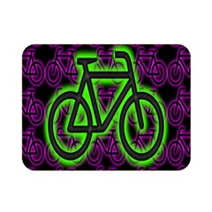 Bike Graphic Neon Colors Pink Purple Green Bicycle Light Double Sided Flano Blanket (mini)  by Alisyart