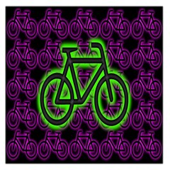 Bike Graphic Neon Colors Pink Purple Green Bicycle Light Large Satin Scarf (square) by Alisyart