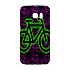 Bike Graphic Neon Colors Pink Purple Green Bicycle Light Galaxy S6 Edge by Alisyart