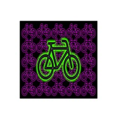 Bike Graphic Neon Colors Pink Purple Green Bicycle Light Satin Bandana Scarf by Alisyart