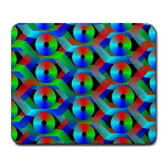 Bee Hive Color Disks Large Mousepads by Amaryn4rt