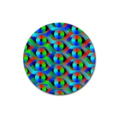 Bee Hive Color Disks Magnet 3  (round) by Amaryn4rt
