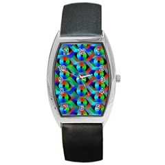 Bee Hive Color Disks Barrel Style Metal Watch by Amaryn4rt