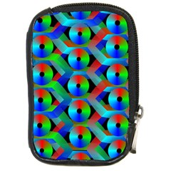 Bee Hive Color Disks Compact Camera Cases by Amaryn4rt