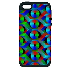 Bee Hive Color Disks Apple Iphone 5 Hardshell Case (pc+silicone) by Amaryn4rt