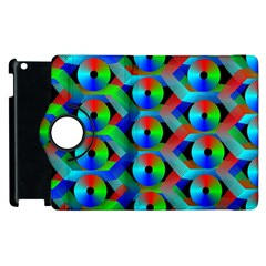 Bee Hive Color Disks Apple Ipad 3/4 Flip 360 Case by Amaryn4rt