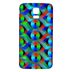 Bee Hive Color Disks Samsung Galaxy S5 Back Case (white) by Amaryn4rt