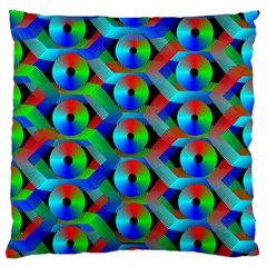 Bee Hive Color Disks Standard Flano Cushion Case (one Side) by Amaryn4rt