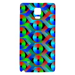 Bee Hive Color Disks Galaxy Note 4 Back Case by Amaryn4rt
